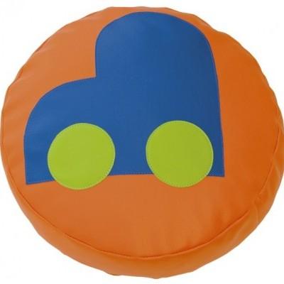 Almofada circular Carrinho com 45x10cm