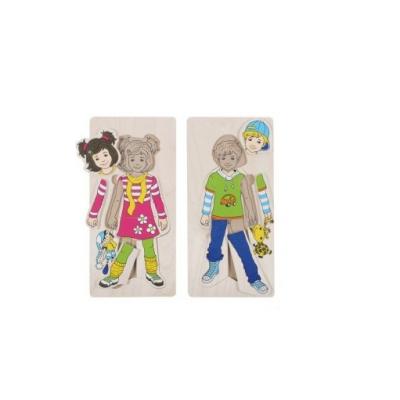 Puzzle Camadas da Rapariga e Rapaz