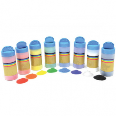 Areia colorida - 8 tonalidades em 300 G