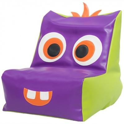 Puff sofá monstrinho Rafa com 50x50x55cm