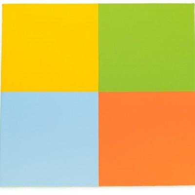 Tapete 4 cores claras 130x130x3cm