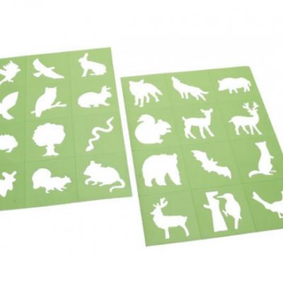 Mini stencils - Floresta