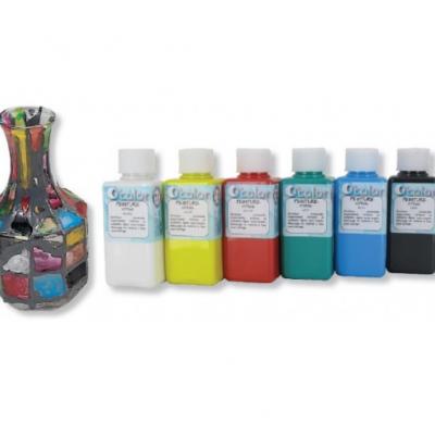 Tinta de vitral - 6 tonalidades