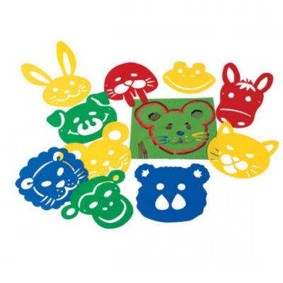 10 stencils - Mascaras de animais