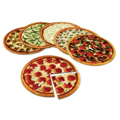 Conjunto frações de pizzas magnéticas