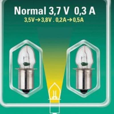 2 lâmpadas de 3,7 V - 0,3 A - base lisa
