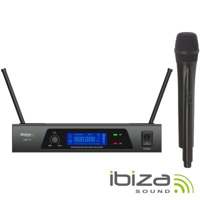 Central Microfone sem Fios 1 Canal Uhf 864.90mhz IBIZA