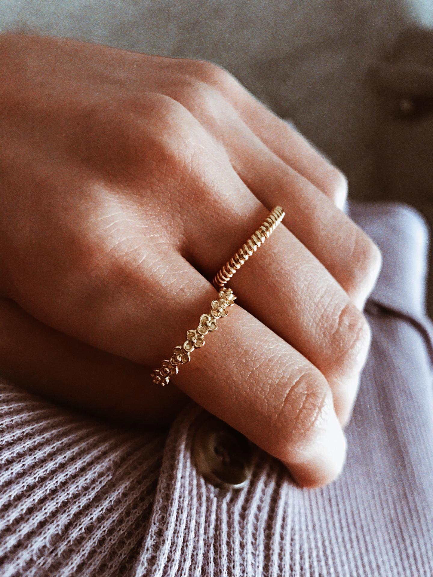 Anéis em prata dourada com banho de ouro - New collection