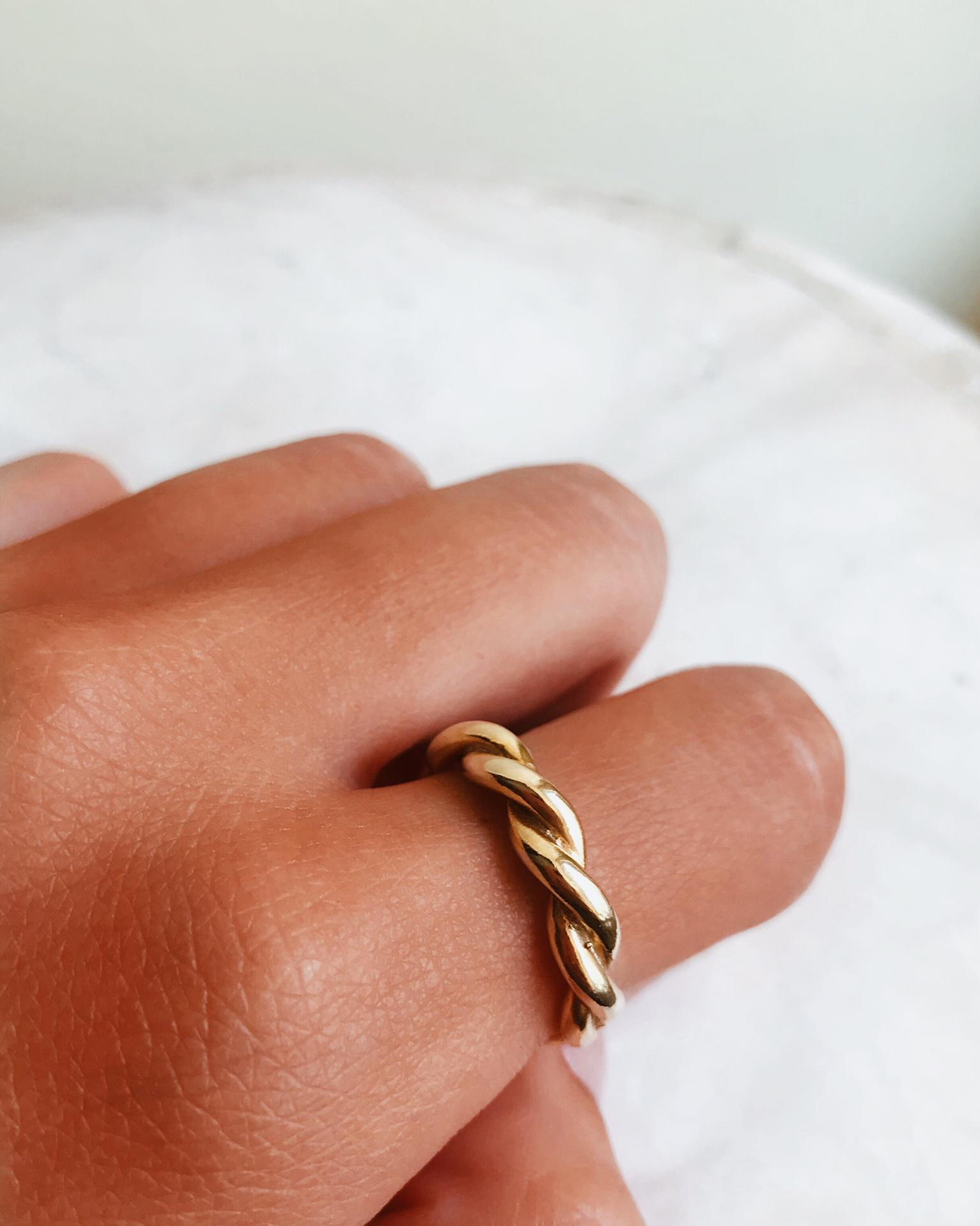 Anel em prata dourada - Omer