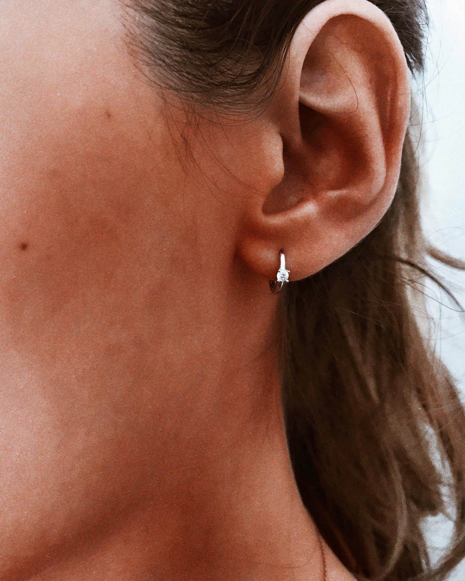 Mini argolinhas em Prata 925 - Little diamond