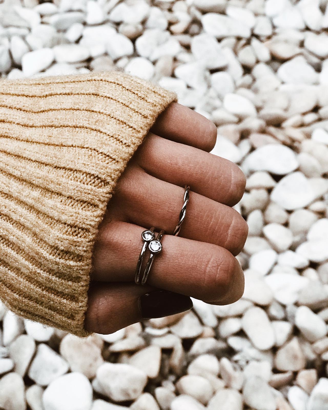 Anéis em prata - Spring