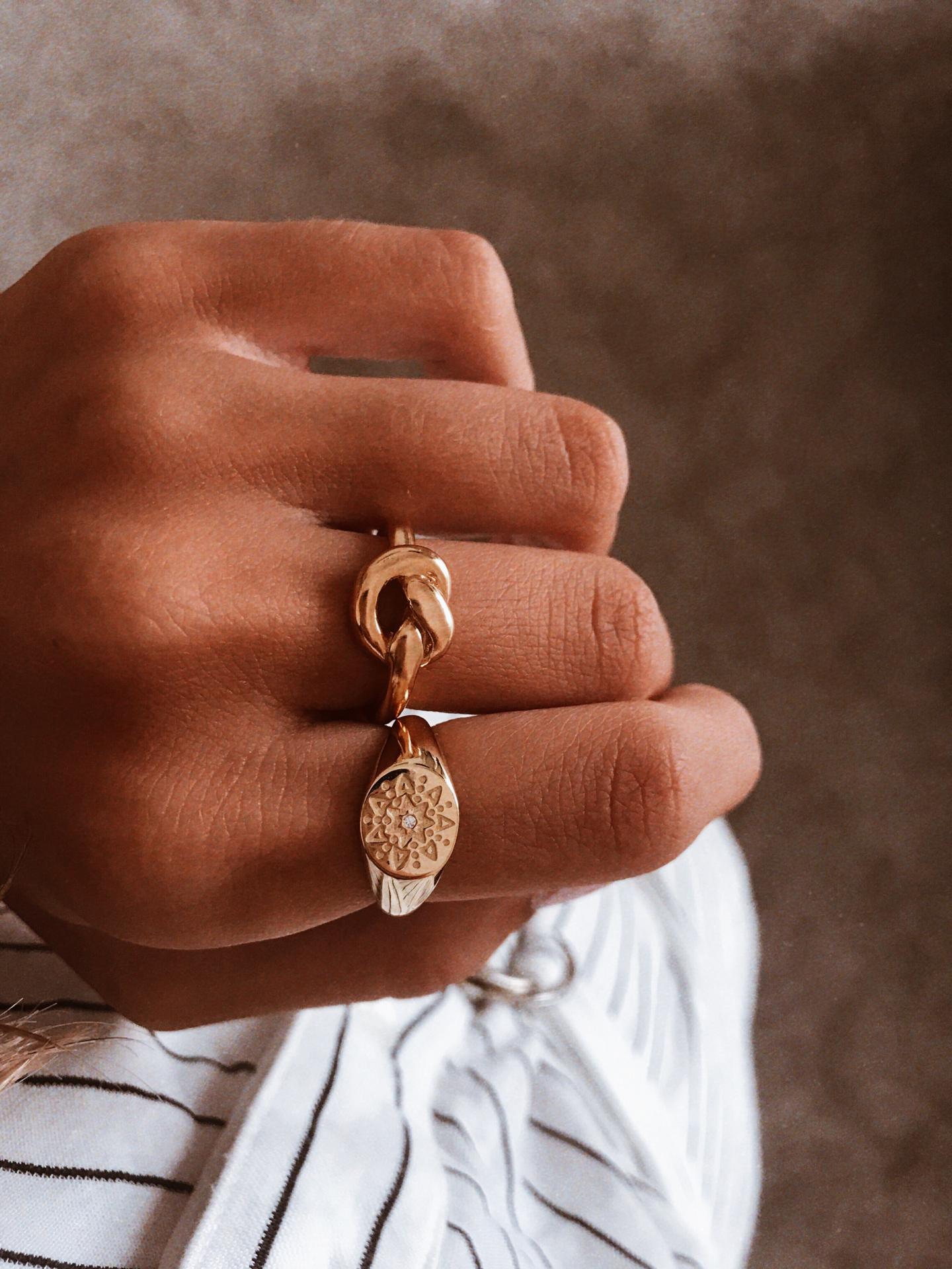 Anel em prata 925 - Knot