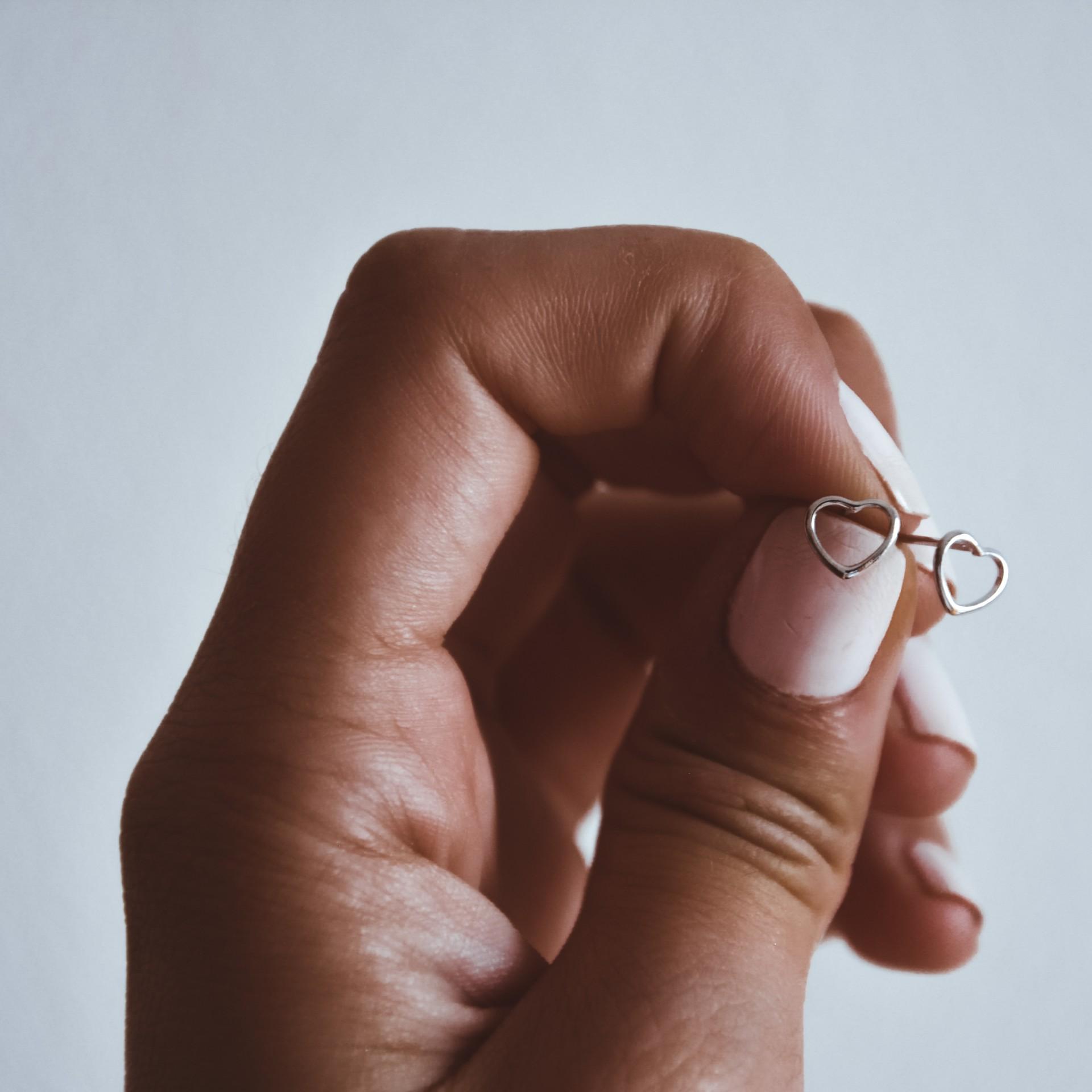 Brincos em prata 925 - Mini heart