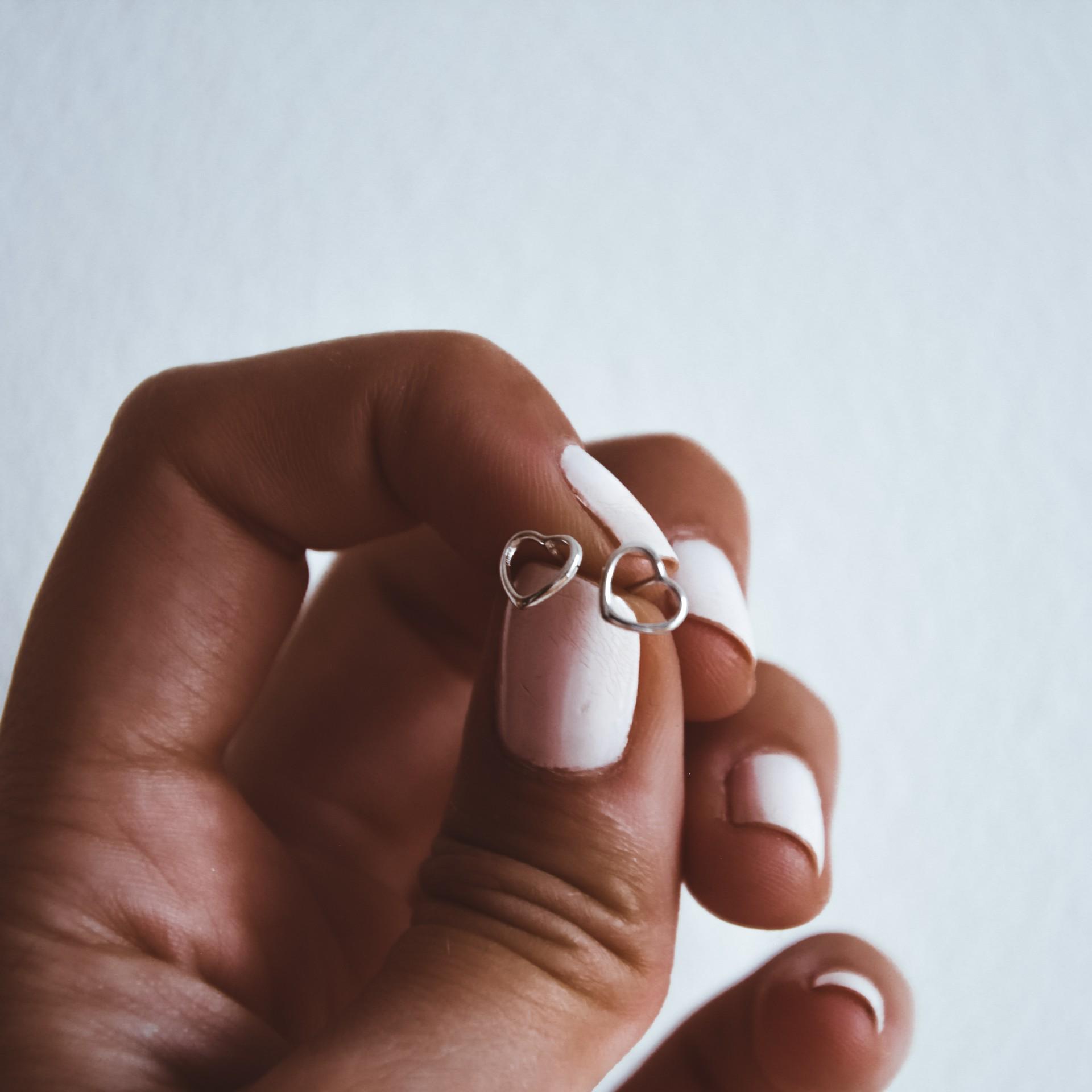 Brincos em prata - Mini heart