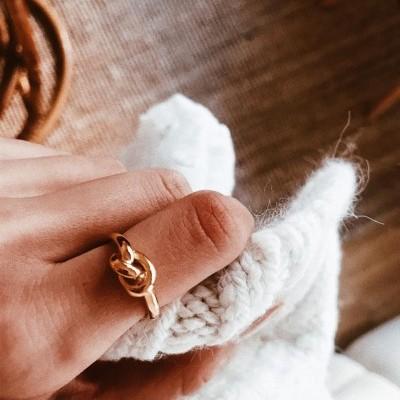 Anel em prata - Gold Knot