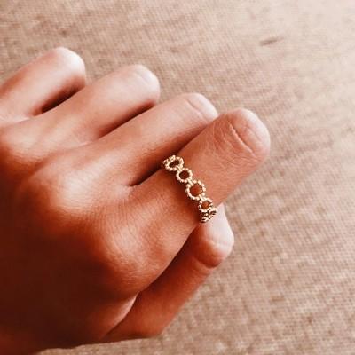 Anel em prata dourada 925 - Alisa