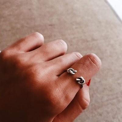 Anel em prata - Double knot