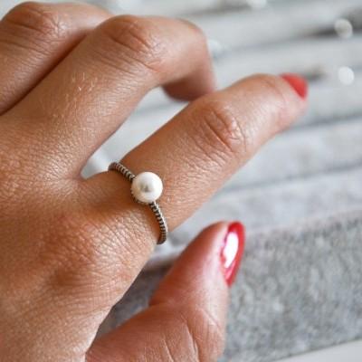 Anel em prata - Pearl