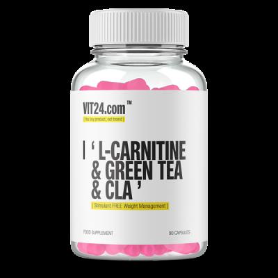 L-CARNITINE + GREEN TEA + CLA - 90 SOFTGELS