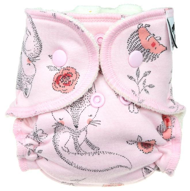 Fralda Ajustada Anavy Recém-nascido molas - Foxes Pink