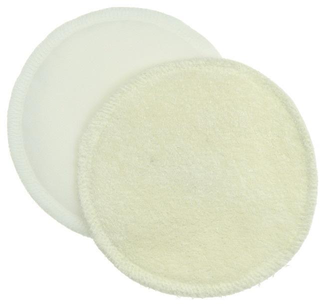 Discos Reutilizáveis de Amamentação de Bambu com Pul (1 Par) - Branco