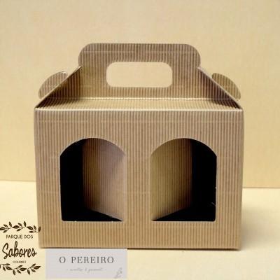 Caixa papel kraft CX2110 p/ colocar 2 produtos