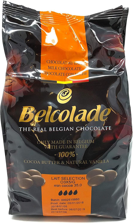 Chocolate de Leite Belcolade ( 1 / 5 Kg) -