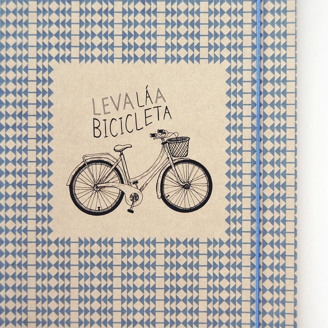 """Caderno A5 """"Leva la a bicicleta"""""""