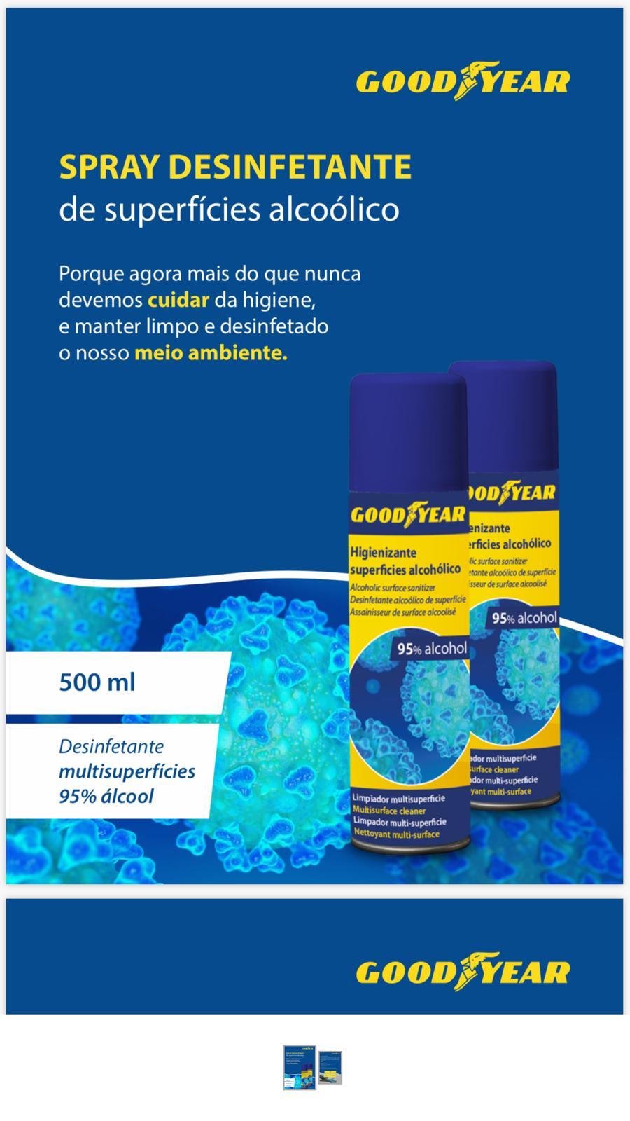 Higienizante superficies Goodyear 500 ml