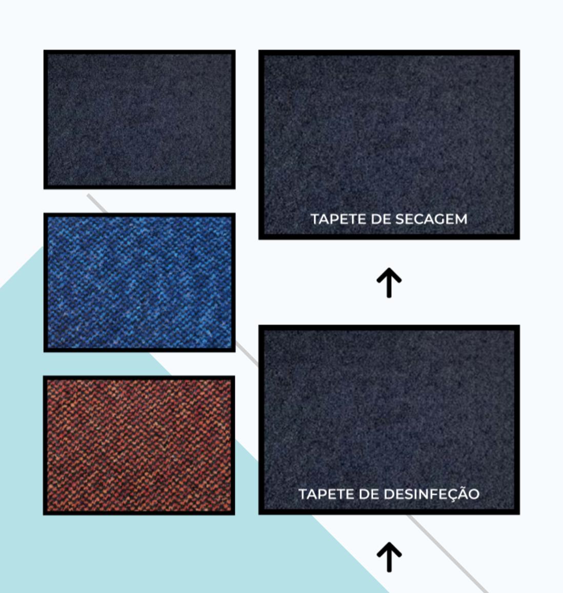Tapete desinfetante e tapete de secagem