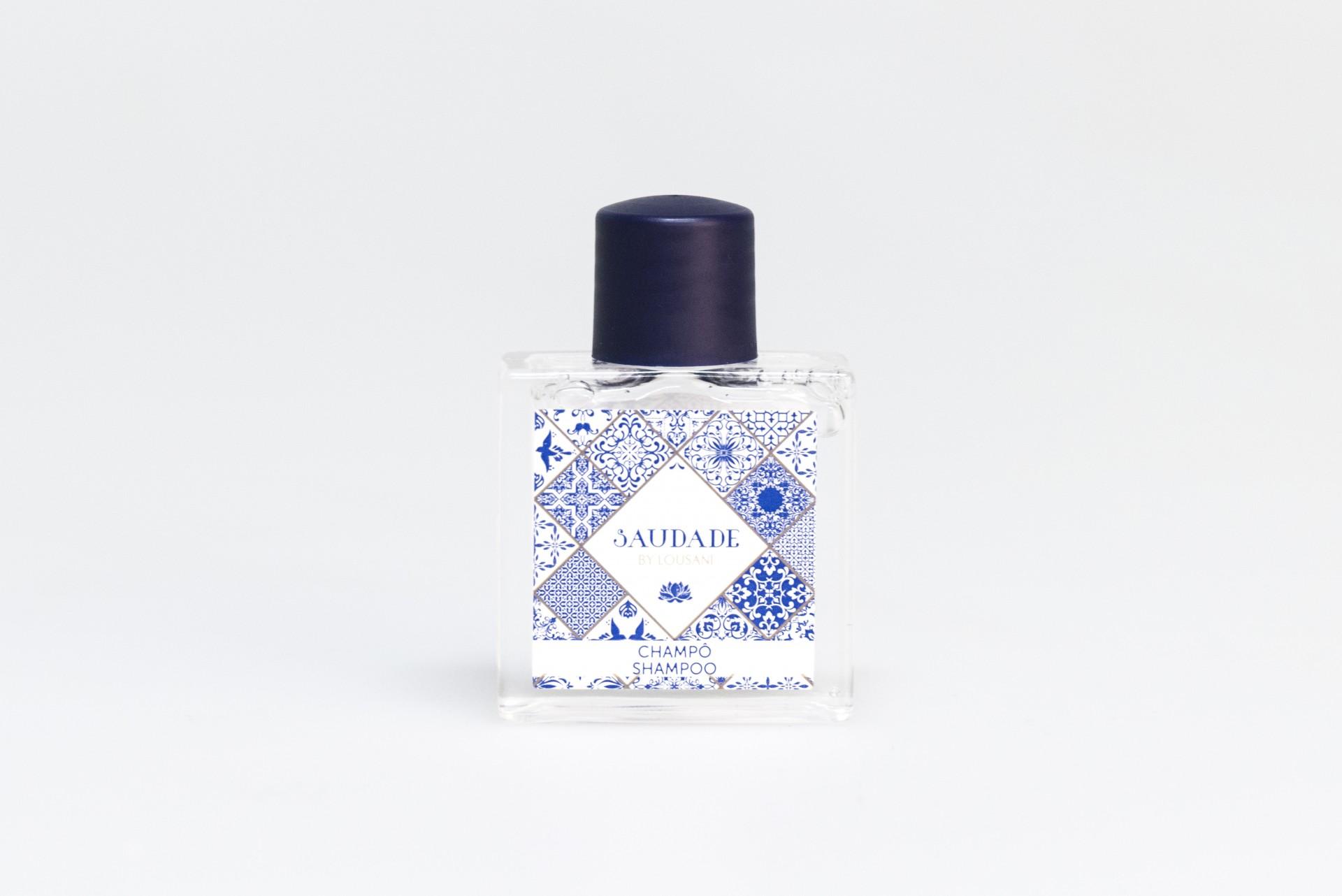 Frasco quadrado 30 ml Shampoo Saudade