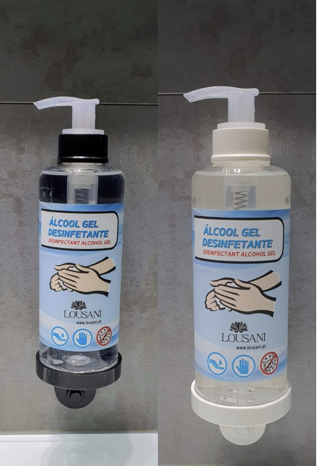 Álcool gel doseador + suporte