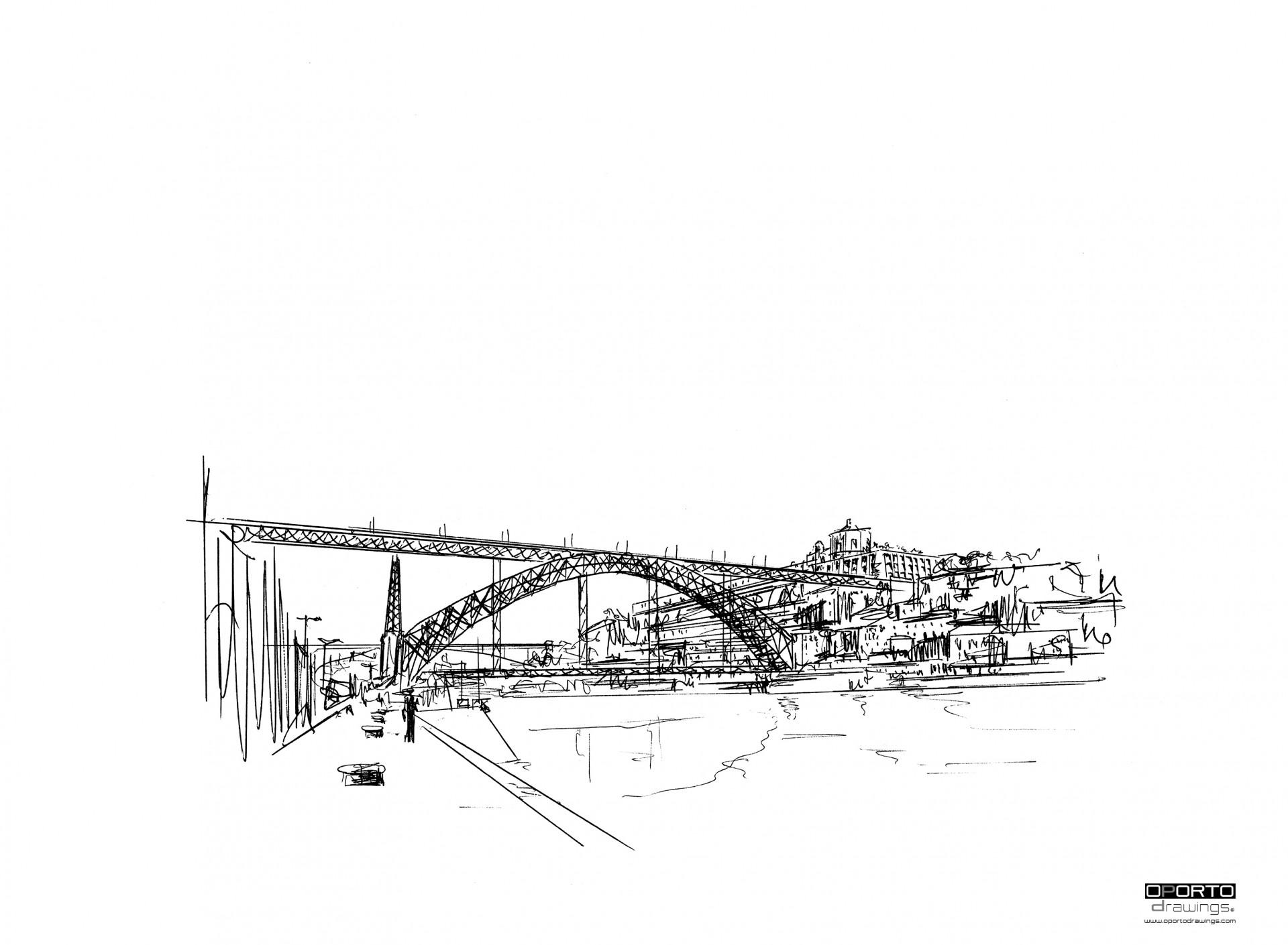 ponte luiz I e serra do pilar