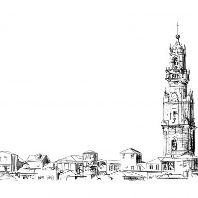 torre dos clérigos e casario