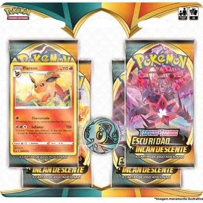 Pokémon TCG: Escuridão Incandescente Blister Quádruplo: Flareon (PT)