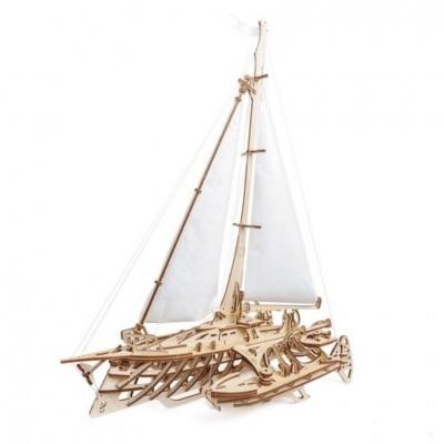 Puzzle 3D - Modelo mecânico Trimarã Merihobus