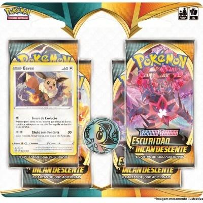 Pokémon TCG: Escuridão Incandescente Blister Quádruplo: Eevee (PT)