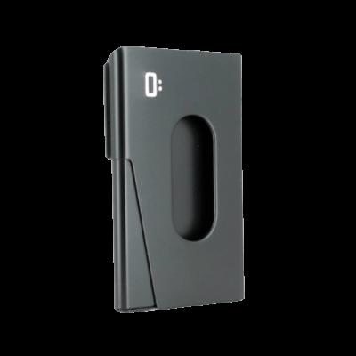 Porta-cartões de Visita OGON One Touch Alumínio Preto