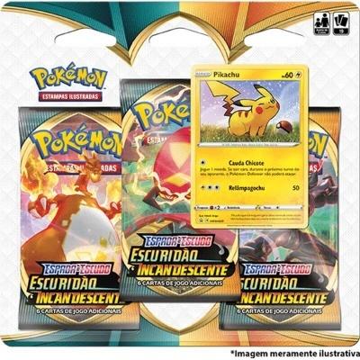 Pokémon TCG: Escuridão Incandescente Blister Triplo: Pikachu (PT)