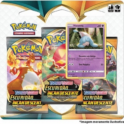 Pokémon TCG: Escuridão Incandescente Blister Triplo: Hatenna (PT)