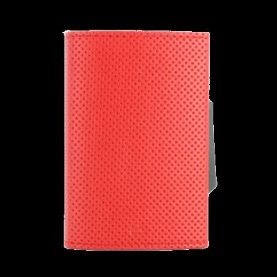 Porta-cartões Ogon Cascade Traforato Vermelho