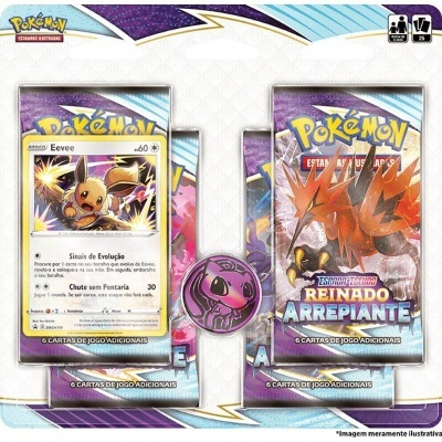 Pokémon TCG: Reinado Arrepiante Blister Quádruplo: Eevee (PT)