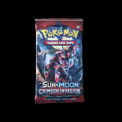 Pokémon Sun & Moon Crimson Invasion Booster
