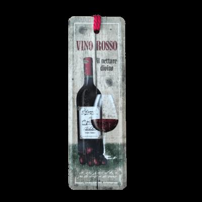 Marcador de livros Vino Rosso