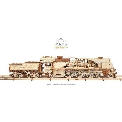 Puzzle 3D - Modelo mecânico Locomotiva V-Express
