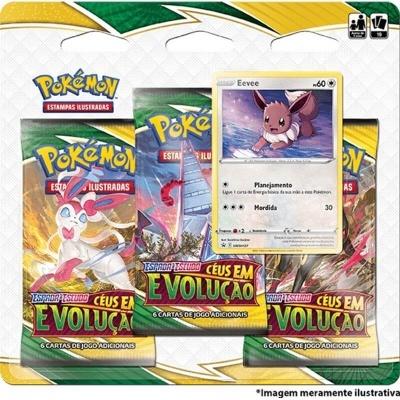 Pokémon TCG: Céus em Evolução Blister Triplo: Eevee (PT)