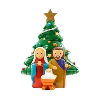 Presépio com árvore de Natal