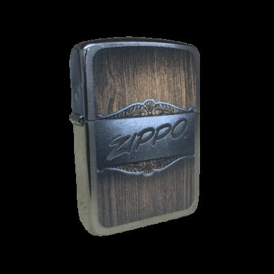 Zippo Metal on Wood