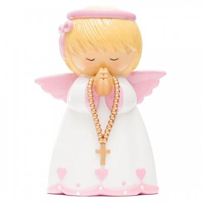 Anjo da Guarda Mealheiro Rosa