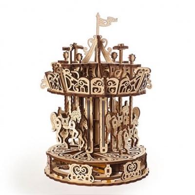 Puzzle 3D - Modelo mecânico Carrossel